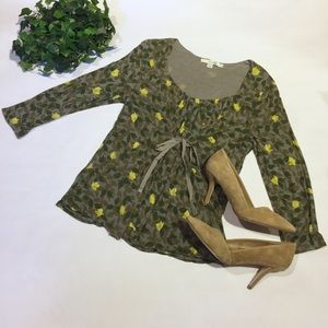 BODEN floral print long sleeve top